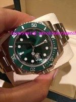 Коробка / Сертификат Высокое Качество 40мм 116610 116610 Керамическая Зеленая Азия ETA 2836 Механические Автоматические Мужские Часы Часы
