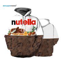 Ehuanhood новая мода Мужчины / Женщины 3D толстовки печати Nutella еда хип-хоп пуловер толстовка повседневный стиль бренд спортивные костюмы топы L18101005