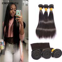 Großhandel 8A Brazillian Glattes Haar Unverarbeitete Peruanische Menschenhaar Doppel Schuss Günstige Brazillan Gerade Haarverlängerung