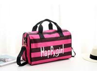 حقيبة يد حقيبة الأحذية المستقلة المشارب الوردي اللياقة البدنية السفر المحمولة القماش الخشن حقيبة السفر للماء حقيبة الكتف الإناث