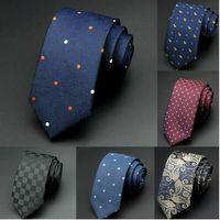 6cm Mens Corbatas New Hombre Moda Dot Corbatas Corbatas Gravata Jacquard Slim Tie Lazo Corbata verde para los hombres