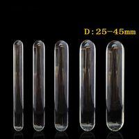 230 ملليمتر طويلة شفافة الزجاج دسار ضخمة كبيرة القضيب مزدوجة دسار الشرج المكونات الجنس لعب الكبار للمرأة مثليه قضبان اصطناعية كبيرة بعقب المكونات Y18110504