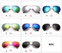 موضة نظارات المرأة النظارات الشمسية النظارات الشمسية عيون شفافة يورت القيادة النظارات الشمسية النظارات الشمسية الشاطئ الطيار النظارات الشمسية 9 ألوان