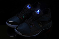 2018 Nuevas luces UP PG 2 PlayStation Taurus Road Master Zapatillas de baloncesto para Paul George II PG2 2s PS Athletic Sport Sneakers Tamaño 40-46