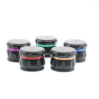 드럼 모양 다채로운 알루미늄 합금 직경 63MM 미니 허브 분쇄기 스파이스 밀러 크 러 셔 고품질 아름 다운 색상 독특한 디자인 DHL 무료