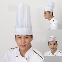 جودة عالية الأقمشة غير المنسوجة يمكن التخلص منها أبيض اللون الفرنسية طاه قبعة قبعة الطاهي قبعة خيار تصميم mulit
