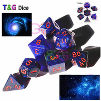 7PCS Universe Galaxy Dice pour DD Game