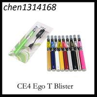 자아 스타터 키트 CE4 atomizer 전자 담배 전자 cig 키트 650mah 900mah 1100mah EGO-T 배터리 물집 케이스 Clearomizer 전자 담배
