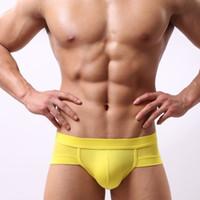 Seksi Erkek Külot İç Giyim Erkekler Külot külot Düşük Bel Casual Nefes Şort Erkekler cueca Masculino 12 Renkler