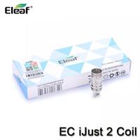 Аутентичные Eleaf iJust 2 EC двойные катушки замена головки для Eleaf iJust 2 распылитель Мело Лемо 3 бак 0.3 Ом 0.5 Ом электронная сигарета катушки