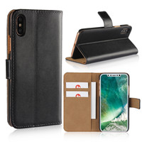 Fundas de billetera de cuero ultra para iPhone Xs Cubiertas de funda con solapa Max Book para iPhone 8 Plus X XR Samsung S9 Plus