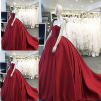 2018 Elegant Burgundy Quinceanera Dresses V Neck Sweep Train...