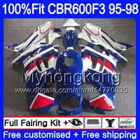 Injectie voor Honda CBR 600F3 CBR600RR CBR6F3 1995 1996 1997 1998 2MY53 CBR600 F3 FS CBR600FS CBR 600 F3 95 96 97 98 FUNLING WITTE BLAUW