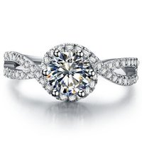Ringe Verantwortlich Trendy Original 100% 925 Sterling Silber Twisted Seil Zirkonia Ring Für Frauen Hochzeit Engagement Party Geschenk Feine Europa Schmuck
