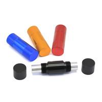 최신 흡연 파이프 다채로운 알루미늄 합금 꽃가루 프레스 압력 장치 액세서리 혁신적인 디자인 여러 용도 고품질