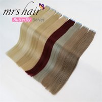 "MRSHAIR Tape In Human Hair Extensions 20pcs 16"" 18&quot..."