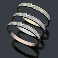 New design bangle with diamonds and V style in Top quality b...