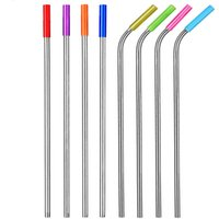 drinking Straws with silicone tip cover 215 267mm stainless ...