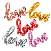 108 * 64 cm Ligaduras Carta de Amor Folha de Balão de Aniversário de Casamento Decoração de Festa de Aniversário Dos Namorados Balão Vermelho