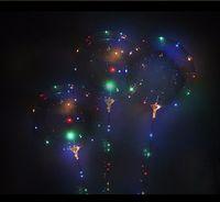 Aydınlık BOBO Balon Sopa ile 3 Metre LED Işık Up Tatil Süslemeleri için Kutup Çubuk ile Şeffaf Balonlar