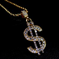 wholesale US Dollar Money Necklace & Pendant Gold Color Chai...