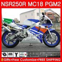 Kit de carénage bleu pour HONDA NSR250R MC16 MC18 PGM2 NS250 88 89 78HM.70 NSR 250 R NSR250 R RR