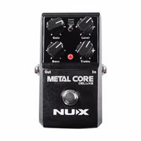 YENI NUX Yükseltildi Metal Çekirdek Deluxe Bozulma Gitar efektleri Pedal klasik metal ve modern aşırı ağır metal guitarra pedalı