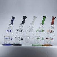Microscope Glass Bong Dab Rig Dual Chamber Oil Rigs 4 Rocket...
