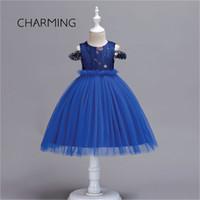 Krótkie Mini Prom Dresses Dla Dziewczyn Suknia Ślubna Powrót do Sound Sound Princess Dress Round Neck Flower Haft Projekt Krótka sukienka