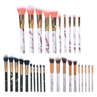 10pcs pennelli professionali per trucco in marmo Set di pennelli per trucco morbido Pennello per fondotinta in polvere Beauty Marble Make Up Tools