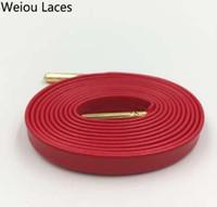 Weiou High-End-Schaffell aus weichem Leder Flache Schnürsenkel Customized Turnschuhe Schnürsenkel Schnürsenkel mit Metall Aglets