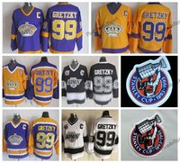 Vintage 1993 Stanley Cup 100th Los Angeles Kings Way Gretzky Hockey Jerseys LA KINGS 99 Wayne Gretzky Hitched Hockey Shirts C Patc