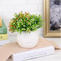 홈 장식 밀라노 인공 꽃 생생한 가짜 잎 장식 꽃 부케 장식 웨딩 GA602