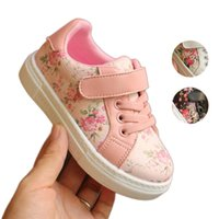 Baby Girls Floral Sneakers Infant Toddler Casual Shoes PU Le...