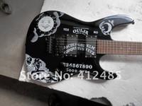 Groothandelsprijs verkoper hete gitaar hoogwaardige nieuwe zwarte KH-2 KIRK HAMMETT OUIJA WITTE ELEKTRISCHE GITAAR