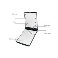 2018 Desktop Portable 8 LED Light Mirror Luces compactas Iluminadas Travel Make up Mirror 192pcs