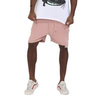 2018 Hot Sale solid pink Men 'Fashion sweat Pantalones Cortos Pantalones de Cintura Casual Sweat Shorts hip hop street wear