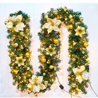 2. 7 Meters Xmas LED Tree Hanging Ornament Rattan Colorful De...