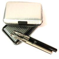 Kit para iniciantes ecigs Vape Pen Kits 380mAh Pré-aqueça a caneta Carregador USB de bateria E-smart Cera de óleo grosso Liberty Glass Cartucho de bobina cremosa Canetas de vapor