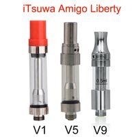 Itsuwa cartuccia originale AMIGO Liberty V1 V5 V9 Co2 vaporizzatore .5ml 1ml Pyrex Vetro Serbatoio spessore Olio Atomizer Per penna Vape batteria 510