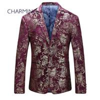Veste de costume pour homme Pour acteur chanteur veste de costume pour homme Processus de marquage de tissu jacquard de haute qualité bourgogne costumes pour hommes