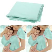 Respirant Wrap Porte-bébé en coton horizontale avant Carry Kid Porte-bébé QuickDry Anneau eau Balancez Slings à New écharpe porte-bébé produit