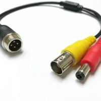 M12 4Pin Male to BNC DC 비디오 어댑터 케이블 차폐 된 와이어
