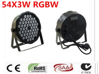 أدى LED 54X3 W افادو RGBW قدم المساواة DJ LED لوز ديل ديسكو Controlador DMX Envio ليبر