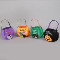 Cadılar bayramı Hile Şeker Çanta Tedavi Çocuklar Şeker Tutucu Kılıfı Çuval Hediye Çanta Gıda Konteyner Cadılar Bayramı Dekorasyon Depolama Sepetleri