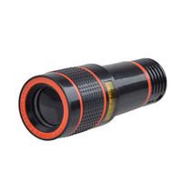 Telescope Telefone Universal Clipe 12X Zoom Móvel lente teleobjetiva Smartphone externa lente da câmera para o iPhone S9 Galaxy X S8 Além disso,