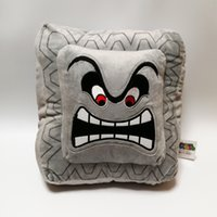 Hot ! Super Mario Bros Thwomp Pillow Plush Stuffed Doll Toy ...