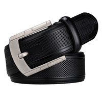 Dropship 2018 men belt cow Black leather  strap male belts for men new fashion classic vintage pin buckle ZA-05