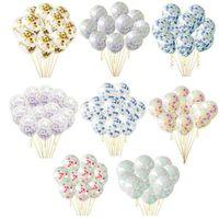 10 stücke Klar Luftballons Bunte Gold Runde Folie Konfetti Transparente Luftballons Alles Gute Zum Geburtstag Baby Shower Hochzeit Dekorationen