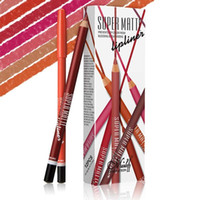 MENOW 12 색상 슈퍼 매트 Lipliner 연필 세트 목조 방수 오래 지속 립 연필 전문 메이크업